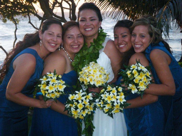 Bride Tia and bridesmaids